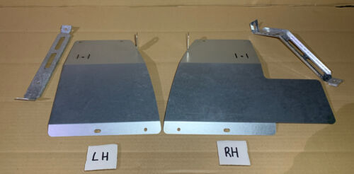 Car Parts - Land Rover Discovery 2 1998-2004 Galvanized rear mud flap brackets PAIR + Stays