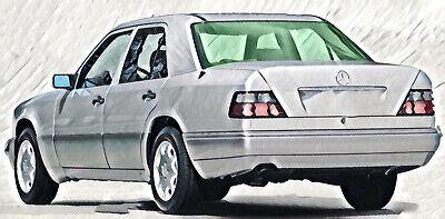 Mercedes E Klasse Limousine W124 Heckscheibe BJ 1987-95 VERBUNDGLAS heizbar grün