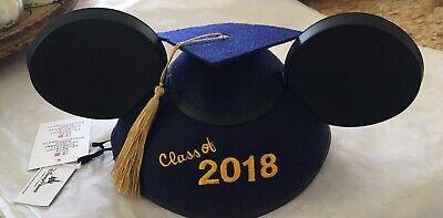 Disney Parks Mickey Mouse Ears  Graduation Hat/Cap Class Of 2018. Be Proud New - Disney Graduation Ears