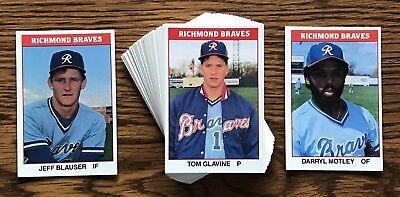 Richmond Baseball - RICHMOND BRAVES 1987 TCMA MINOR LEAGUE BASEBALL TEAM SET TOM GLAVINE BLAUSER+