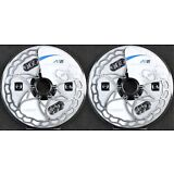 2-Pack Ashima Ai2 Stainless Steel Ultra Light 160mm Bicycle Disc Brake Rotor 73g