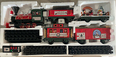 Disney Parks Christmas Train Set Holiday Express-Remote Control Battery-Preowned