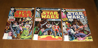 3 1977 STAR WARS COMIC BOOKS - No. 7 - 8 - 9