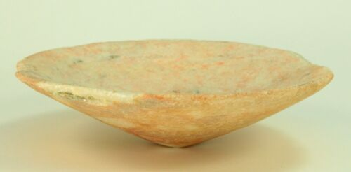 ~Ancient VI-V BC Greek Carved Marble Stone Bowl w. Pink Pigment