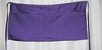 New Polycotton Purple Apron Bag Cash Change Flea Market Garage Sale Pouch