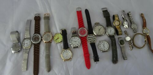 WATCHES Vintage & Used Lot 19 Big Variety Some Large faces Some Vintage