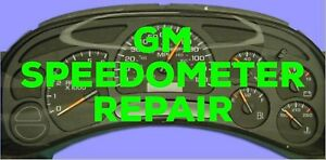 GM SPEEDOMETER CLUSTER REPAIR SERVICE**1 YEAR WARRANTY**