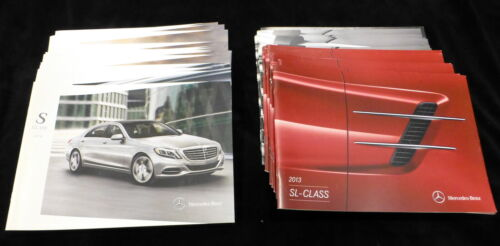 LOT of 37 Mercedes Brochures. 2013 & 2014. SL, G, S models.