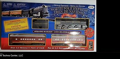 EzTec North Pole Express Christmas Train Set, Battery Operated