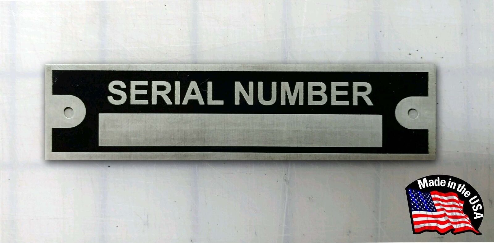 Serial Number Plate Hot Rod Rat Chevrolet Plymouth Dodge