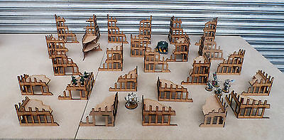 Wargames scenery 26 Ruined Buildings Warhammer 40K 28mm Bolt Action Terrain E