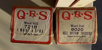 2 QRS Pianola Rolls shrink-wrapped I Want a Girl and Bell Bottom Trousers