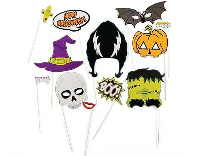 Halloween Photo Booth Props,Attached to the Sticks,Halloween Decorations, NO DIY](Diy Halloween Photo Booth Props)