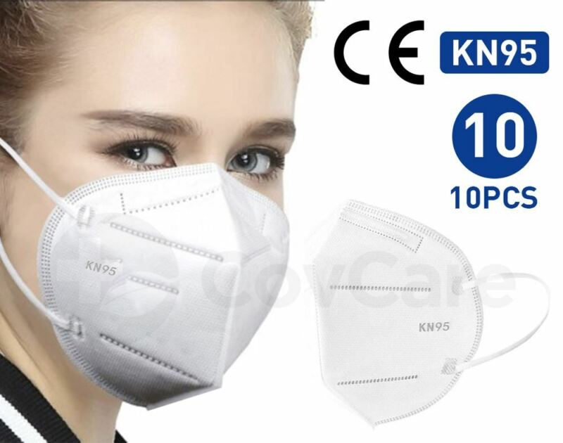 Kn95 Protective Face Mask Ce/ecm Certified   Cdc Standard   10-pack