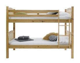 **100% GUARANTEED PRICE!**BRAND NEW-Solid Pine Wood Bunk Bed/Single Bed With Mattresses|Sale Now On|