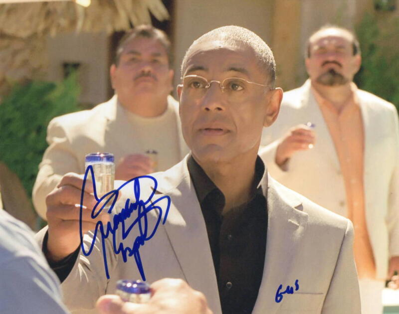 GIANCARLO ESPOSITO SIGNED 8X10 PHOTO BREAKING BAD GUSTAVO GUS PROOF COA A