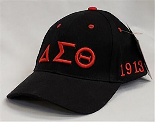 Delta Sigma Theta Sorority Three Greek Letter Baseball Hat- Black-New!