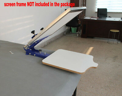 Fix On Table 1 Color 1 Station Silk Screen Printing T Pallet Press Embosser