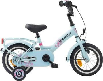 "Loekie Superstar meisjesfiets 12"" blauw 3+"