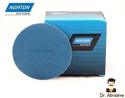 75mm Sanding Discs 3inch Zirconia Zirconium Norton Pads Hook And Loop Sandpaper