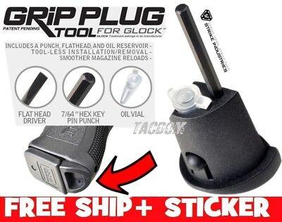 Strike Industries Grip Plug Tool for Glock GEN 3 Hex Punch + Flat Tool + Oiler (Grip Plugs)