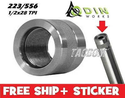 Odin Works Stainless Steel 416R Barrel Thread Protector 1/2x28 TPI 223 556 knurl