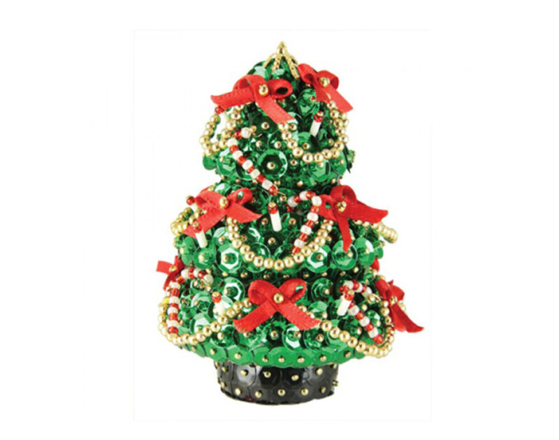 Pinflair Sequin & Pin Yuletide Tree Bauble Ornament