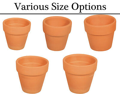 Buy cheap mini terracotta plant flower pots for crafts choose your size