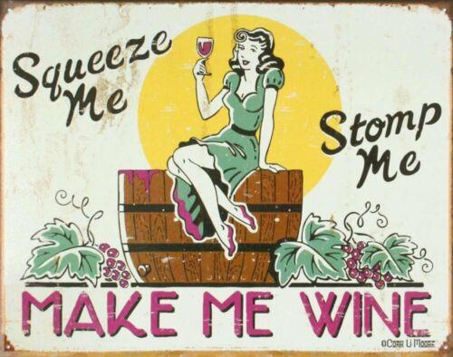 Make Me Wine Tin Sign 16 x 13in