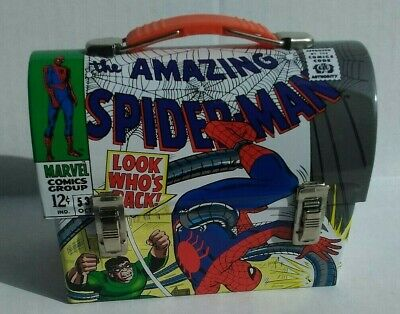 Official Marvel The Amazing Spider-Man vs Doc Ock mini domed lunchbox - 2007