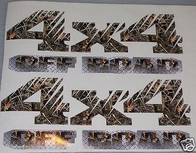 Real tree M4 Camo 4X4 OFF ROAD #2 BED SIDE Decals Decal F150 F250 Ram Chevy GMC