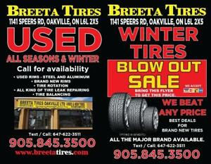 Used and Brand new tires for sale.