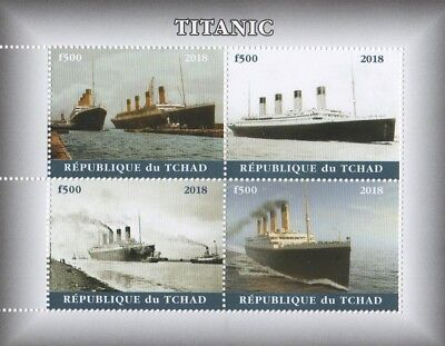 RMS TITANIC WHITE STAR LINE OCEAN DISASTER TCHAD 2018 MNH STAMP SHEETLET