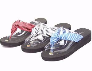 New-Womens-Girls-Flip-Flops-Thongs-Sandals-Platform-Black-White-Red-Baby-Blue