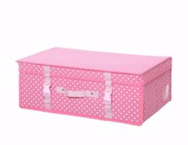 Pink Polka Wedding Gown Travel/Storage Boxes