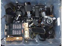 Box full of photographic items