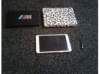 """White 7"""" Samsung Tab 4 Loaded Pristine With 2 Covers & Dustplug Bundle Must See"""