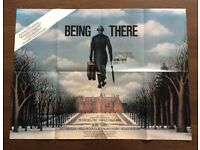 being there ' an original vintage 1980 film poster