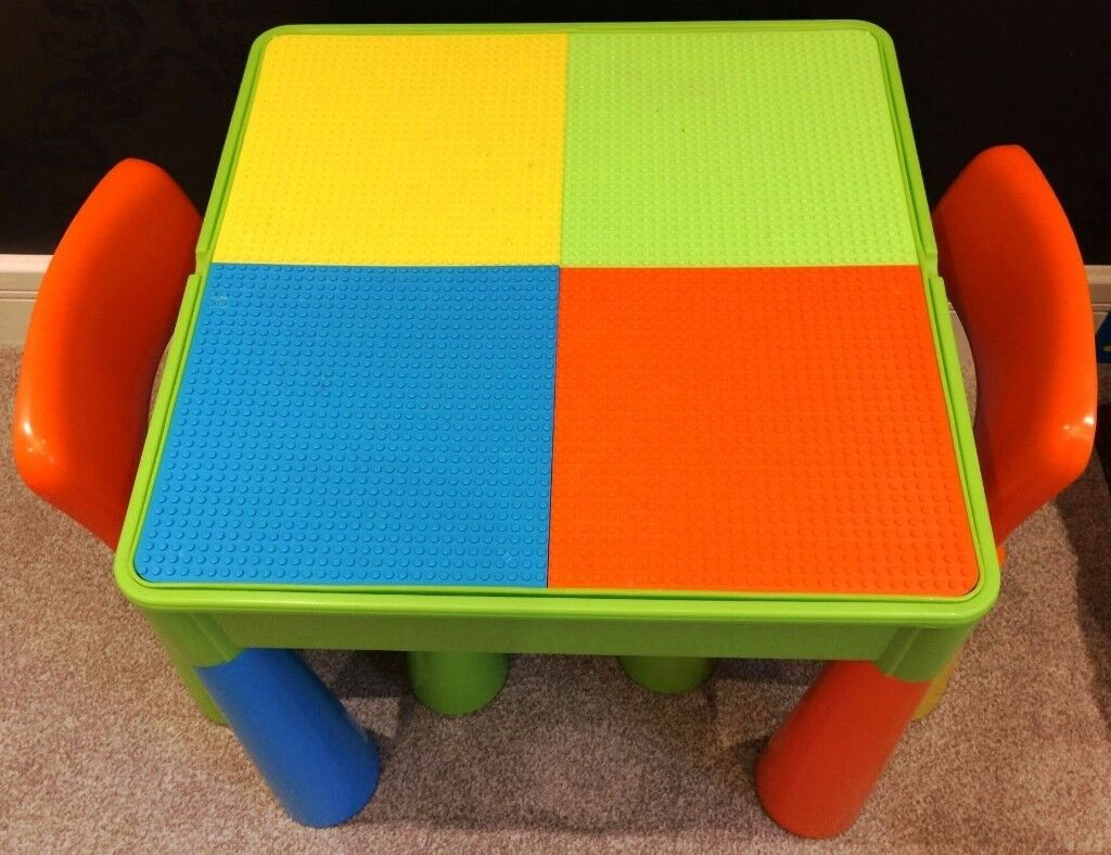 8597ec6c8dc2 5 in 1 Activity Table   Chairs with Writing Top Lego Sand Storage
