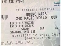 Two bruno mars wednesday standing tickets sale or swap