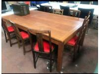 Large Wooden Hand Built Table