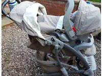 Graco Travel System, Pushchair, Car Seat, Carry Cot, Footmuff, Raincover