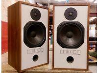 Vintage Mission 717 Speakers, refurbished