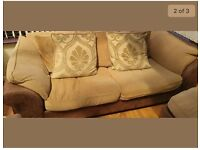 fabric/leather sofa set* Very good condition! 3 pieces