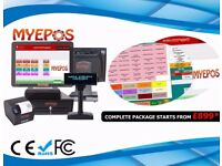 Complete EPOS System, Built in Rear VFD Display, Thermal Printer, Caller ID, Cash Drawer & Software
