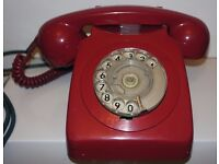 Vintage retro red home telephone