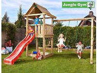 Jungle Gym House with 2-Swing set.