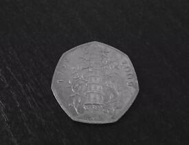 Kew Gardens Circulated 50p Coin