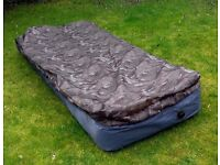 Air mattress with built - in sleeping bag