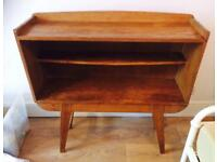 Mid century wooden free standing book case